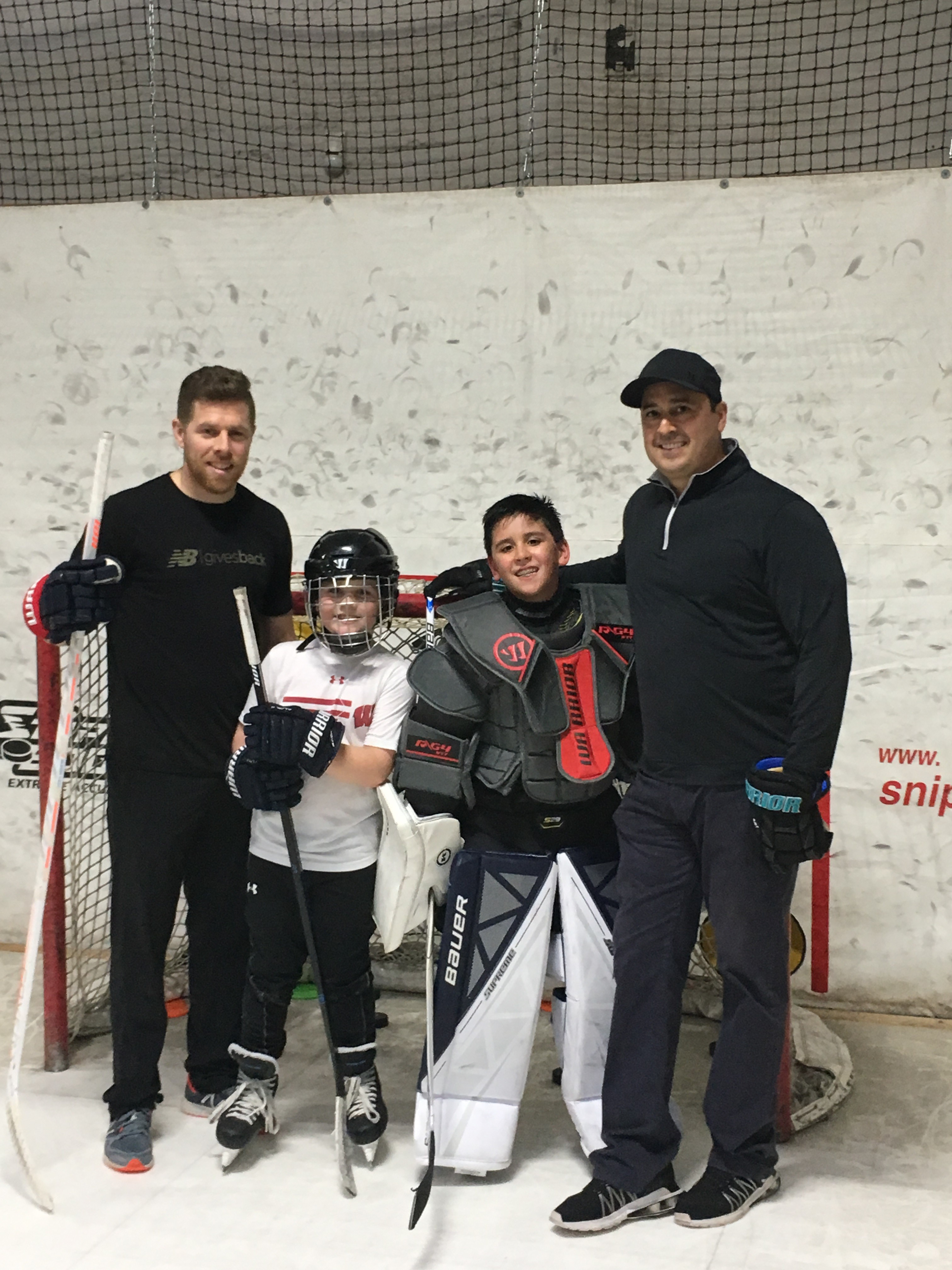 Joe Pavelski spends some quality father-son time training at Extra Hour