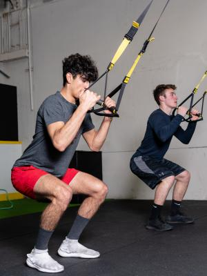 Strength & Conditioning training on TRX system